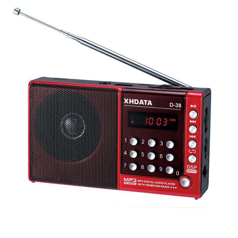XHDATA D-38 FM Stereo/MW/SW/MP3-Player/DSP Vollband Radio D38 (Inglese/Tedesco /giapponese/Russo manuale utente)