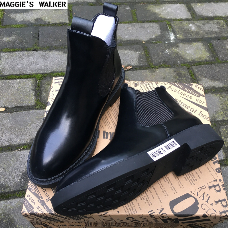 Maggie s Walker Women Genuine Leather Ankle Boots Women Martin boots Winter Snow Boots Size 35