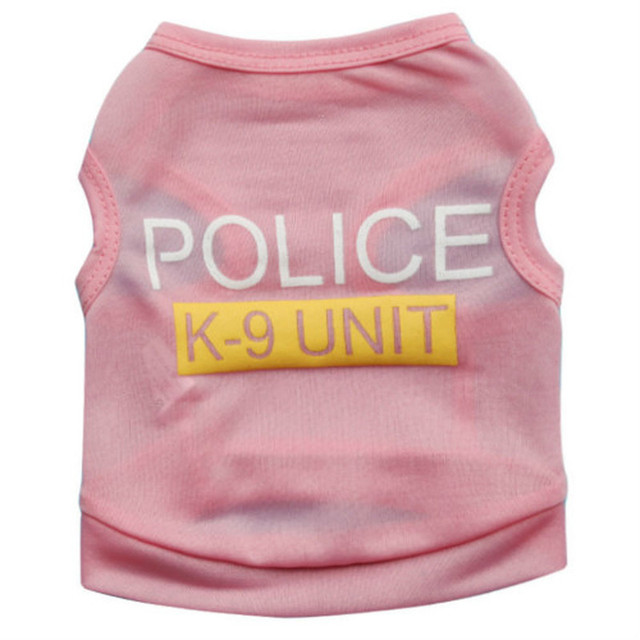 Clothing Small Dogs Police Winter Warm Vest  My Pet World Store