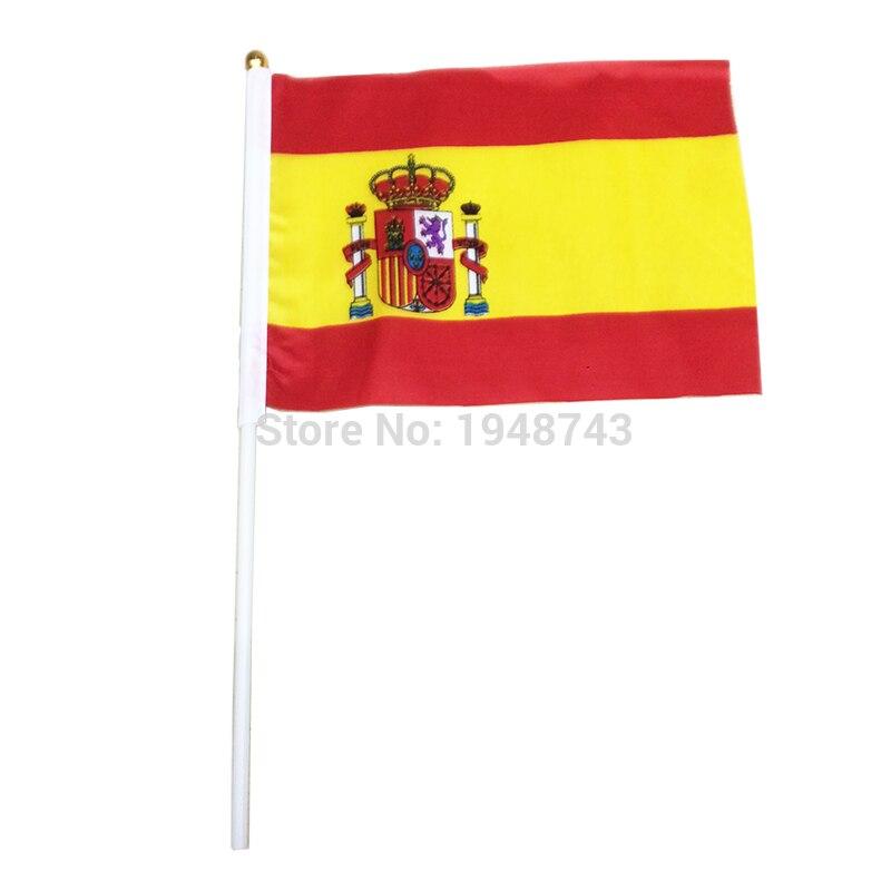 10 ชิ้นขนาดเล็กสเปนธง 14 * 21 - การตกแต่งบ้าน