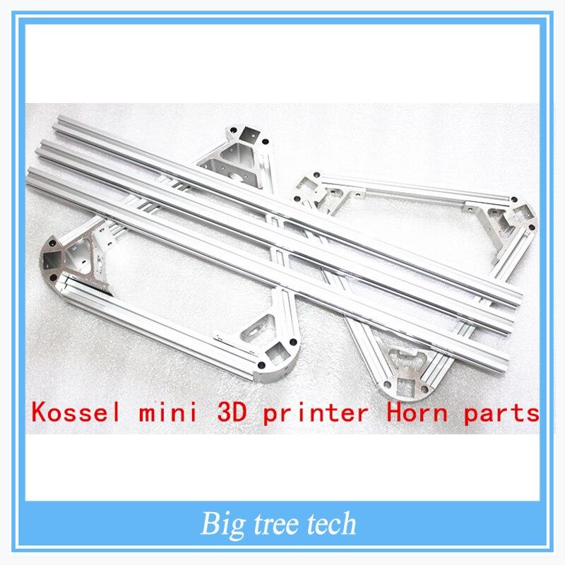 Kossel mini 3d impresora partes del cuerno, piezas no estándar ...
