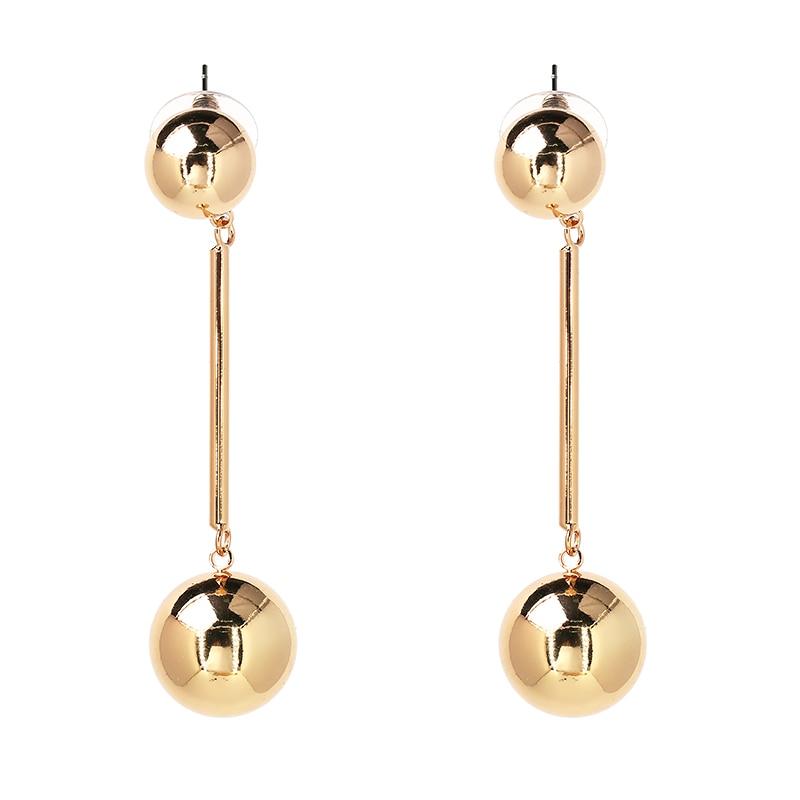 JUJIA noua calitate bună Cerc cercuri Perle de miere netedă Față - Bijuterii de moda - Fotografie 2