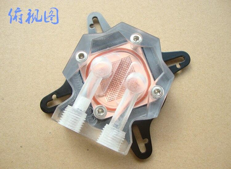 Прозрачная графическая водяная головка Полная серия общего графического водяного охлаждения GPU холодная медная основа
