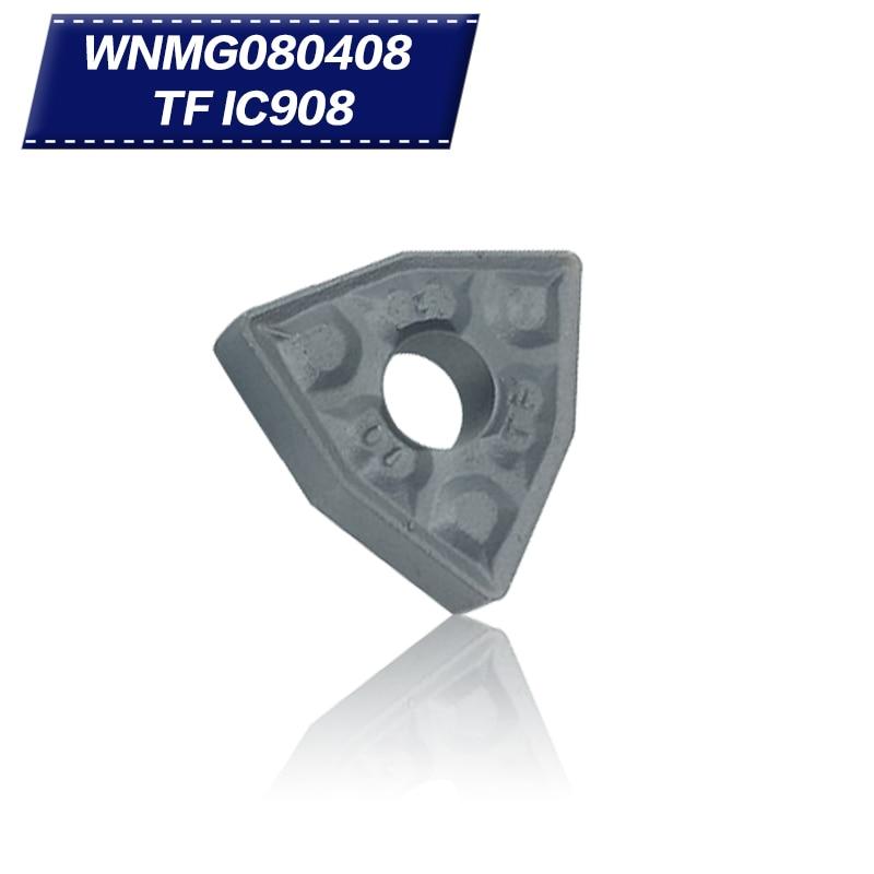 100 pz WNMG080408 TF IC908 WNMG432 Utensili per tornitura esterna - Macchine utensili e accessori - Fotografia 1