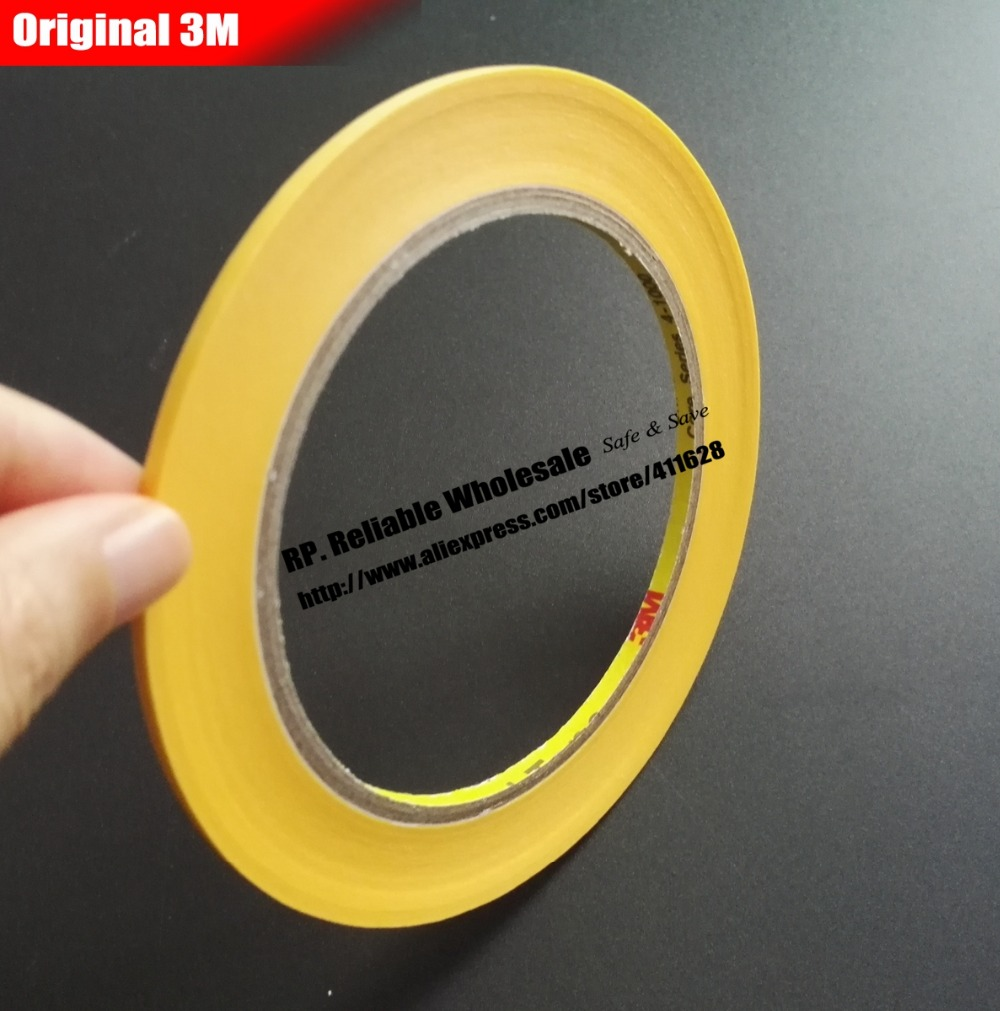 3M New 50Meters Long High Temperature Resistant Adhesive Masking Tape 3M244 For Hold Bundle Seal, Car Paint Masking