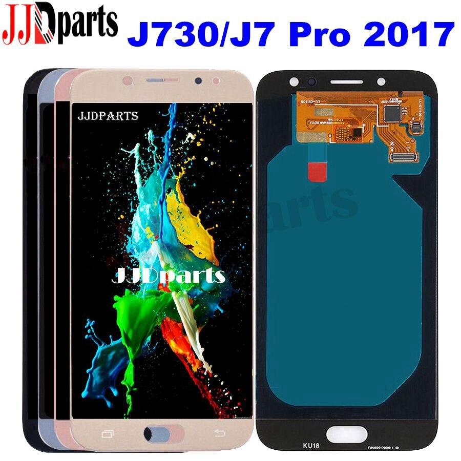 Nouveau Testé Pour Samsung Galaxy J7 Pro 2017 J730 écran lcd Avec écran tactile ensemble de digitaliseur pour Samsung J7 Pro J730 J730F
