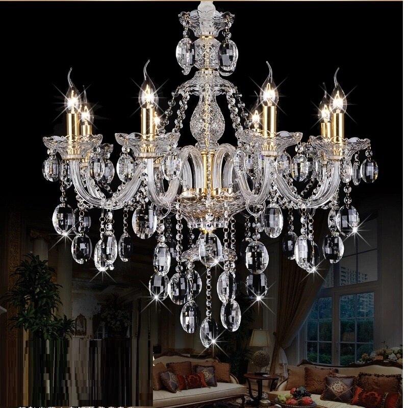 Svetlobni lestenec Moderni kristal Veliki lestenci Luksuzni Moderni - Notranja razsvetljava - Fotografija 2