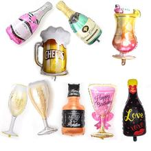 1pcs big balloon wine glass large champagne bottle  for wedding Birthday Party Decorations Adult Kids Ballons Globos Event