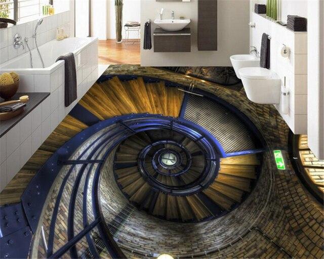 Tv In Vloer : Beibehang prachtige driedimensionale vloer aangebracht 3d vloeren
