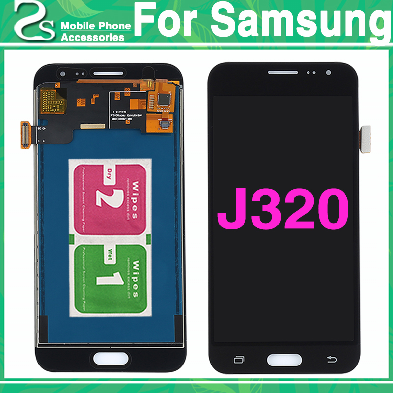 Neue <font><b>J320</b></font> <font><b>LCD</b></font> <font><b>Touch</b></font> Screen Für Galaxy J3 2016 J320F J320M J320FN <font><b>LCD</b></font> Display Mit <font><b>Touch</b></font> Sensor Glas Digitizer Panel montage image