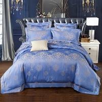 Silk Cotton Bedding Sets Satin King/Queen Size Bed in a bag Doona /Duvet/Quilt Cover Bed Linen Girls Ruffled Bed Spread