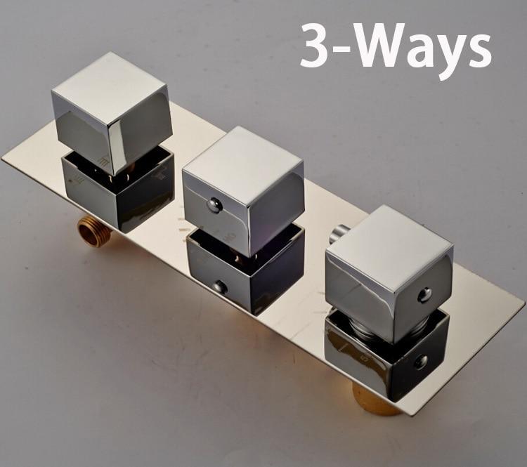 Best Quality Brass Thermostatic Triple Mixer Valve Shower Faucet ...