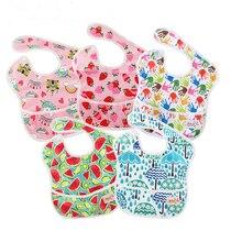 Wholesale Ohbabyka Baby Feeding Clothes Newborn Infant Bibs with Pocket Waterproof Unicorn Character Brups Accessories