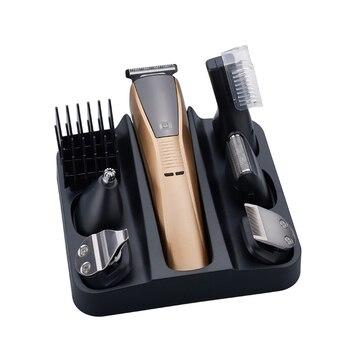 6в1 набор для ухода за волосами триммер электрическая машинка для стрижки волос для мужчин машинка для стрижки бороды тример бритвенный ста...