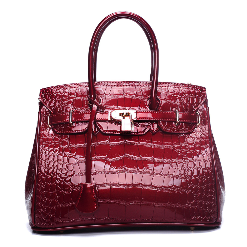 2018 New Fashion Alligator Women Handbag High Quality Ladies Shoulder Bags Patent Leather Female Girl Luxury Brand Crossbody Bag 2016 shoulder bags crossbody brand new fashion patent leather women bag handbag messager elegant luxury ladies black tote famous