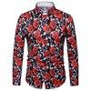 2018 Latest Brand Unique Design Floral Printed Men Casual Shirts Classic Men Stylish Shirt Men S