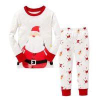 PUDCOCO Brand Kids Clothes Set 2pcs Xmas Kid Baby Boy Girl Top Pants Pajama Set Casual