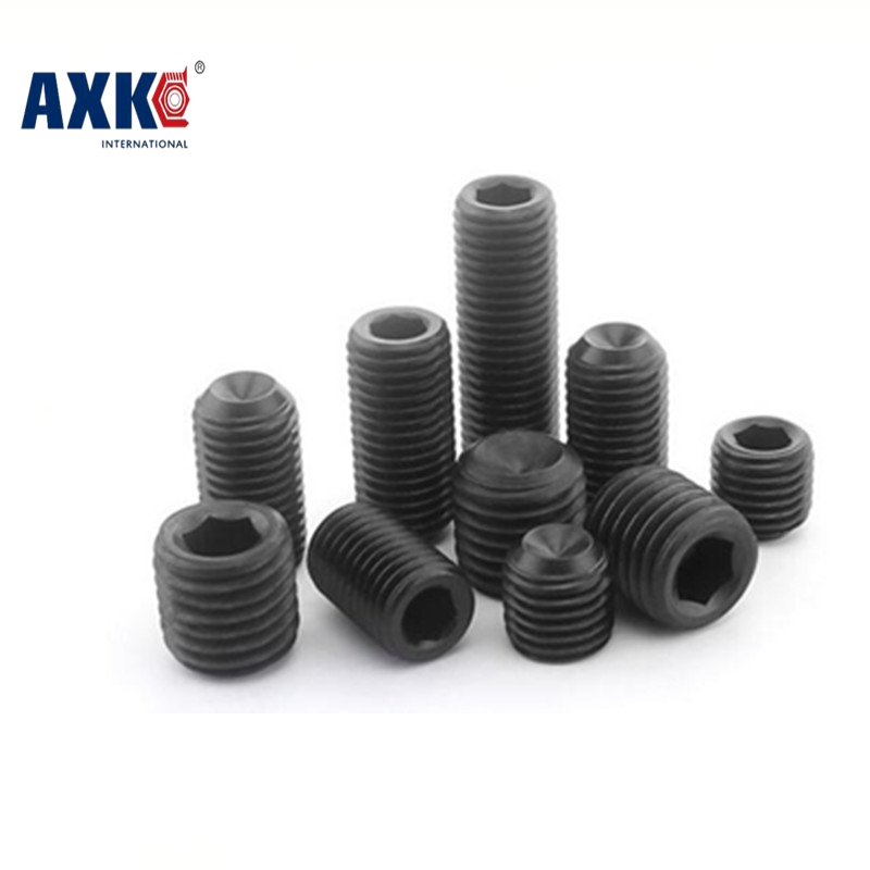 все цены на  Free Shipping 100pcs/Lot M2x4 mm M2*4 mm Alloy steel Hex Socket Head Cap Screw Bolts set screws with cup point M2x4  онлайн