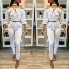2017 new fashion white bow bow shoulder sleeve short jacket