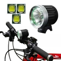 WasaFire 3*XM-L T6 LED HeadLight 4000Lm Mountain Bike Light Accessories Bicycle Lamp HeadLamp 6400mAh Battrey Front Lights Lamps