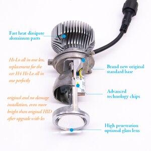 Image 3 - 2 قطعة 1.5 بوصة H4 LED جهاز عرض صغير عدسة للسيارات دراجة نارية عالية منخفضة شعاع LED تحويل عدة مصباح المصباح 12 فولت/24 فولت 5500 كيلو