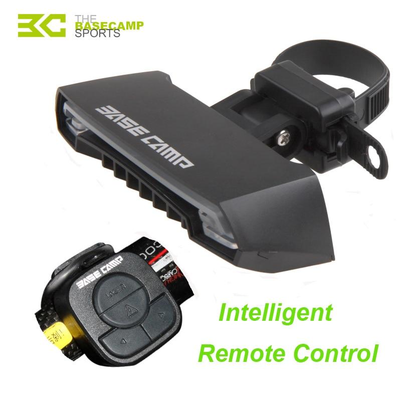 ФОТО Basecamp Intelligent Remote Bicycle Warning Tail Light Laser LED Bike Light 5 Mode USB Waterproof Bicycle Light Bike Accessories