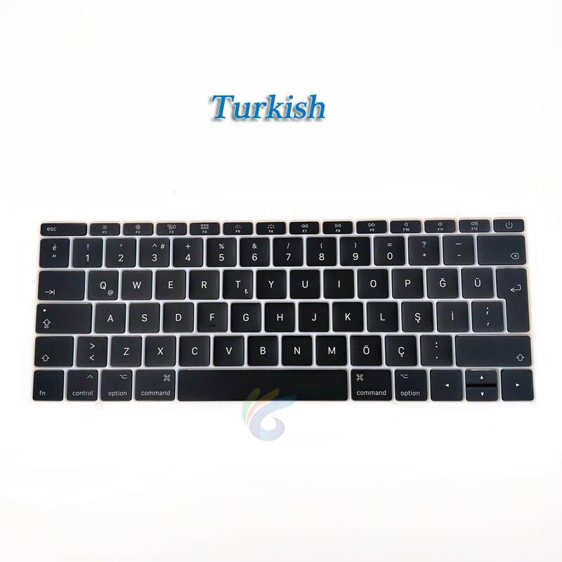 """A1708 клавишная крышка с белым зажимом для Macbook Pro 1"""" retina Key cap US/UK/французский/испанский/немецкий/японский/итальянский/Корейский - Цвет: Turkish key cap"""