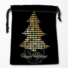 TF&137 New Christmas tree #!16 Custom Printed receive bag Bag Compression Type drawstring bags size 18X22cm #812#137WX
