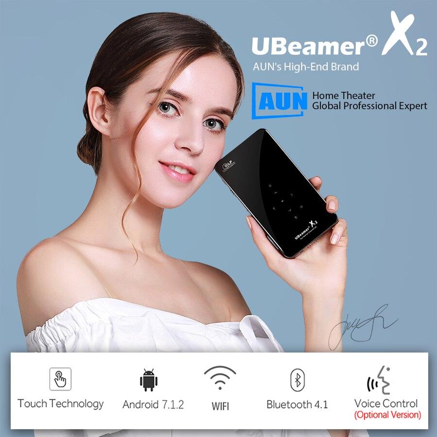 AUN MINI proyector X2 WIFI Android Touch Control (opcional, Control de voz RAM: 2G ROM: 16G) 1080 P portátil 3D de cine en casa - 2