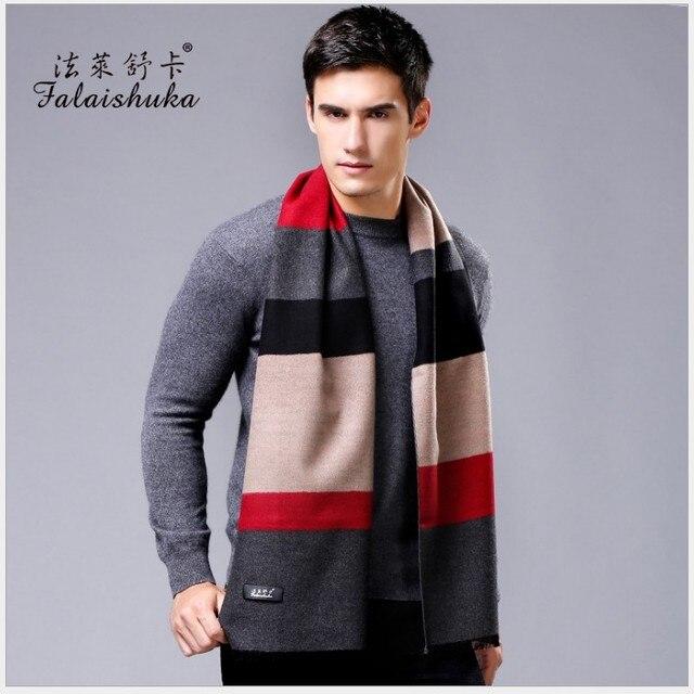 2016 новый мужчины зима теплая шелковый шарф деловой человек мода плед толстые шарфы шелковой накидкой для мужчин бренд шарфы мужчины шарф большой