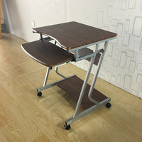 Writing Table Rolling Laptop Notebook Computer Desk With Wheels For Home Office Furniture Mobile Stand Computer