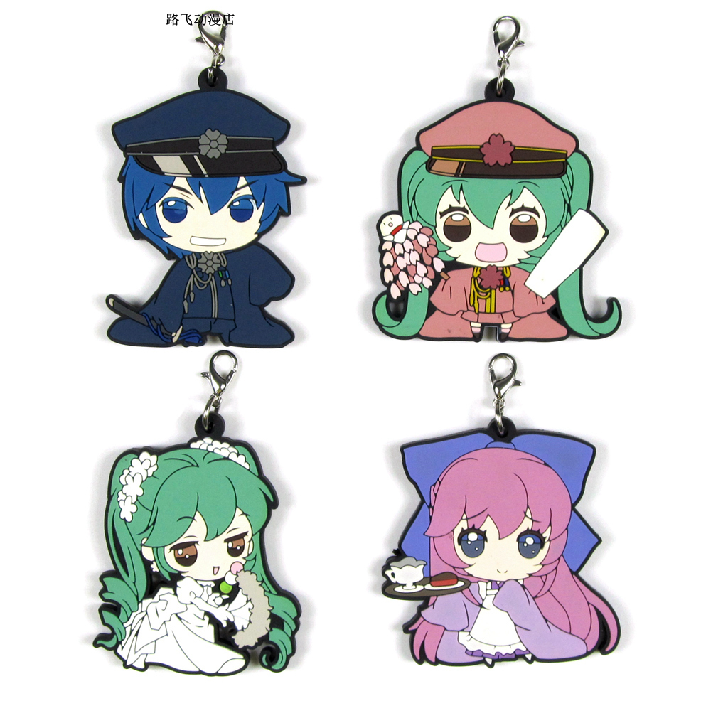 4 Styles Hatsune Miku Acton Figure Anime Model School Bag Keychain Mobile Phone Pendant Rubber Christmas Toys For Gifts 6cm