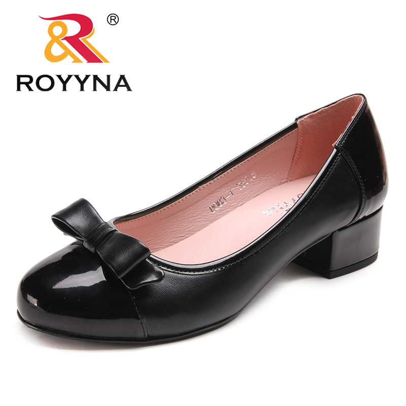 ROYYNA New Arrival Concise Style Women Pumps Round Toe Women Dress Shoes Butterfly-Knot Lady Wedding Shoes Fast Free Shipping royyna new fashion style women pumps round toe women dress shoes high heels women office shoes slip on lady wedding shoes