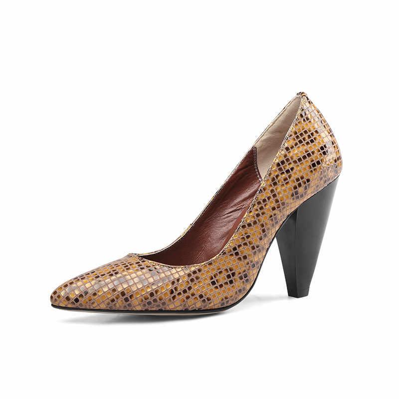 Masgulahe/2019 г.; Лидер продаж; модельные туфли в стиле ретро; женская офисная обувь; женские туфли-лодочки; обувь из натуральной кожи; модная женская обувь на высоком каблуке