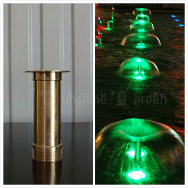 2pcs Copper Mushroom Hemisphere Nozzle G1/2″ Male and G3/4″ Female Connector Fountain Sprinklers Brass Foundtain Sprinkler Head