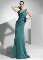 Elegant Mermaid/Trumpet V Neck Evening Party Dress Mother Of The Bride Dresses New Arrival