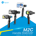 HPUSN Foto Estável Cardan Handheld Steadycam Estabilizador Handheld para GoPro Hero SJCAM Xiao Yi Câmera Do Telefone Inteligente