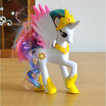 14 CM High Quality Hot Selling Pet Shop Lps Cute Girls Anime Unicorn Pony Pvc Model Action Figure Children Toys Birthday Gifts