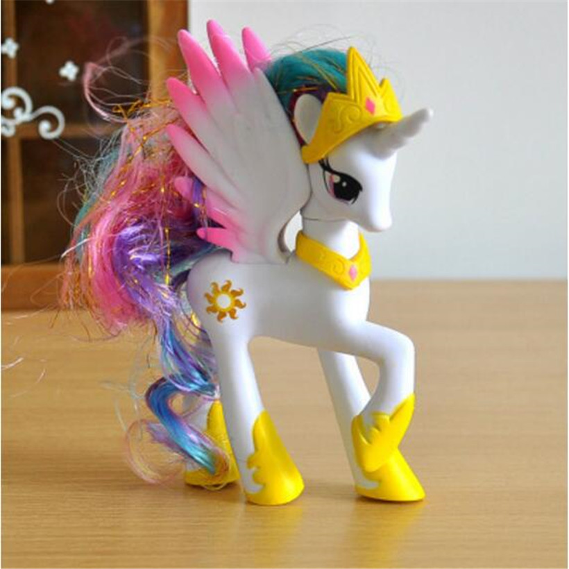 14 CM haute qualité vente chaude animalerie Lps filles mignonnes Anime licorne poney Pvc modèle Action Figure enfants jouets cadeaux d'anniversaire
