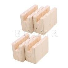 BQLZR 10x5x8.5 cm Table en bois bureau Risers ascenseur meubles releveur rangement pour 2 CM rainure jusquà 5 CM ascenseur paquet de 4