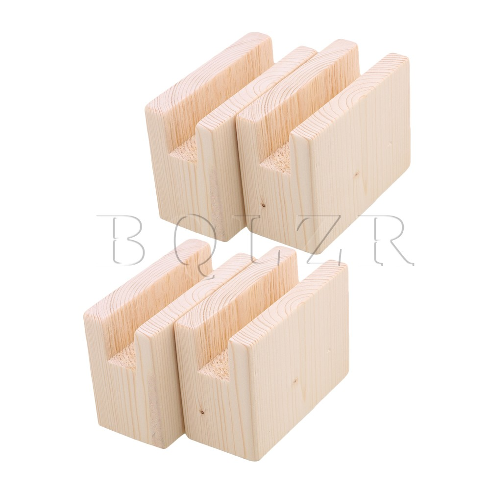 BQLZR 10x5x8.5cm Wood Table Desk Bed Risers Lift Furniture Lifter Storage For 2CM Groove Up To 5CM Lift Pack Of 4