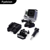 Go Pro Accessories 20mm Picatinny Gun Rail Mount Airsoft Gun Adapter Kit For GoPro Action