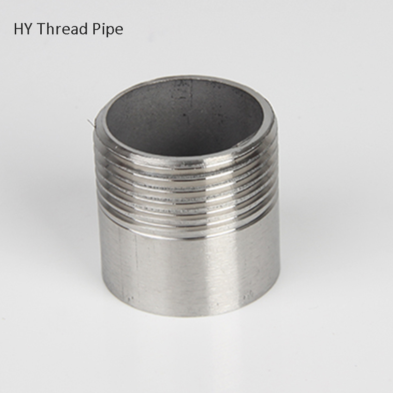"""1/4"""" To 2""""   Stainless Steel   Spool Pipe, Ss304 Straight Tube, Single Thread Pipe Fitting Homebrew"""