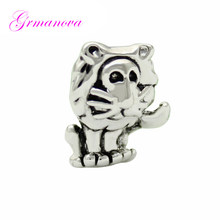 Beads charm black and white lion king animal Continental treasure making bracelet jewelry Fit Pandora Necklace bracelet(China)