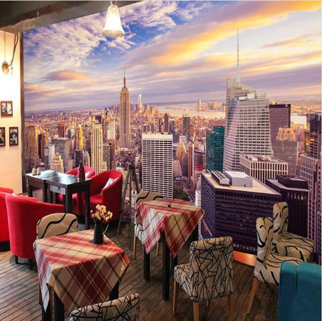 Custom 3D Photo Wallpaper Home Decor New York City Living