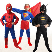 Super Hero Children S Day Party Costume Spiderman Batman Superman Clothing Halloween Boys Girls Dress Up