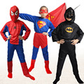 Super Hero Children's Day Party Costume Spiderman Batman Superman Clothing Halloween Boys Girls Dress Up Cosplay Costume