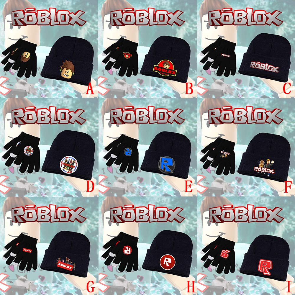 Game Roblox Rock Band Rainbow Llama Smash Horse Knitted Gloves + Skullies Beanie Hat Cap Halloween Cosplay Costume Sets Suits