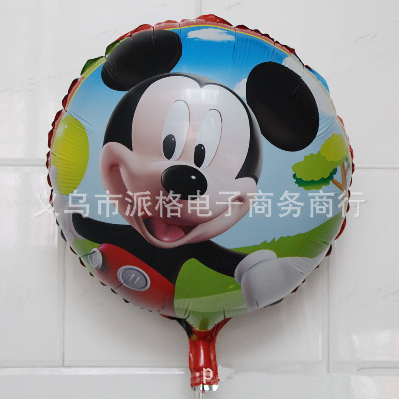 1pcs/lot  Best Quality Mickey foil balloon Kids happy birthday balloon party dec