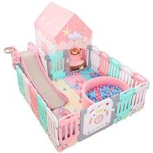 Детский забор для игр в помещении, оборудование для парка развлечений, безопасный забор для малышей, домашний коврик для ползания, забор